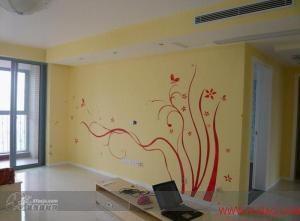 长沙炫彩墙绘 作品 家居设计图库 效果图,实景图,样板间,建
